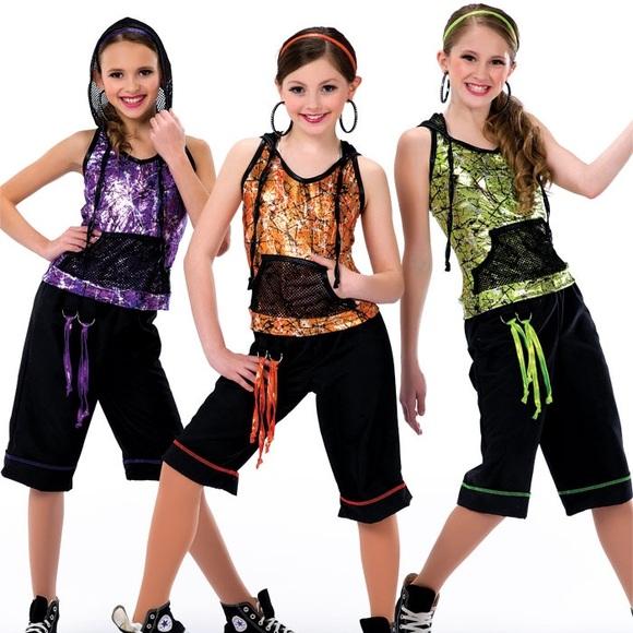 A Wish Come True Costumes Instant Black And Orange Hip Hop Dance Costume Poshmark